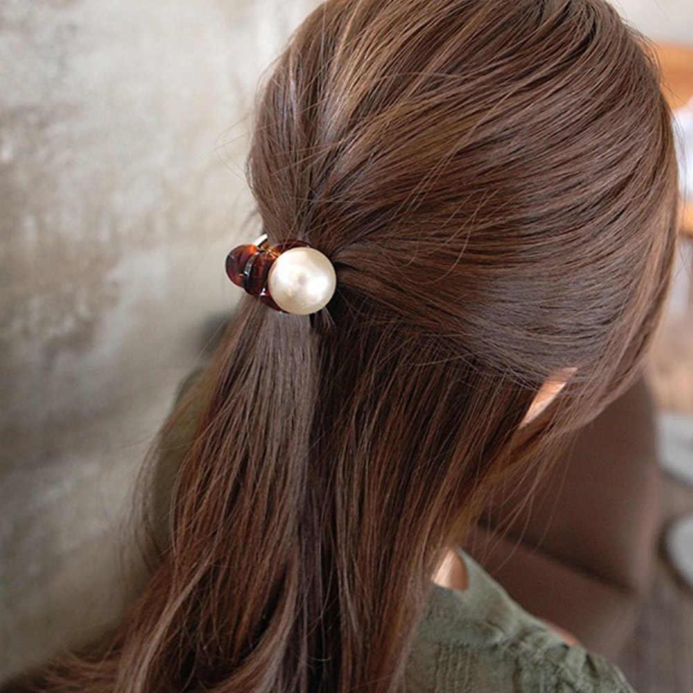 1 pc novo meninas pérola mini garras de cabelo barrettes mulheres elegantes garras de caranguejo de cabelo feminino senhoras compõem a ferramenta de lavagem acessórios de cabelo