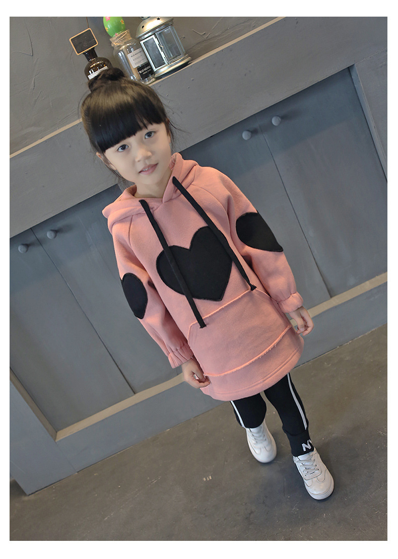baby girl boy clothe Childrens The childs heart in the autumn and winter 2017 new sweater Korean fashion fresh warm long