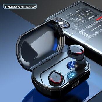 чехол для IPod | Arlado R10 TWS Bluetooth наушники сенсорное управление беспроводная гарнитура IPX6 водонепроницаемые наушники с ЖК-экраном чехол для зарядки 2000 мАч