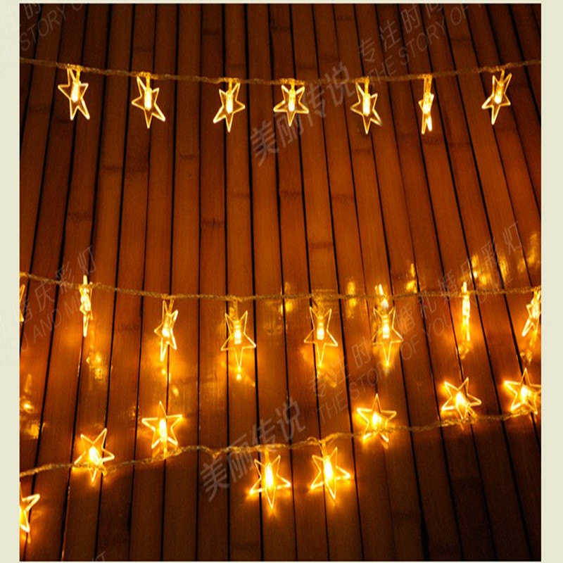 3m LED Battery Operated star string garland Holiday lighting fairy wedding party KTV Bar outdoor Christmas luminaria decoration 10m battery operated fairy lights led string garland curtain lamp for wedding indoor holiday lighting christmas tree luminaria