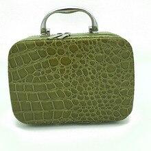Мода Роскошь handBox Косметический Crossbody Коробок Большая Емкость Решетки Алмаза Коробка Макияж Хранения Сумки # b0001(China (Mainland))
