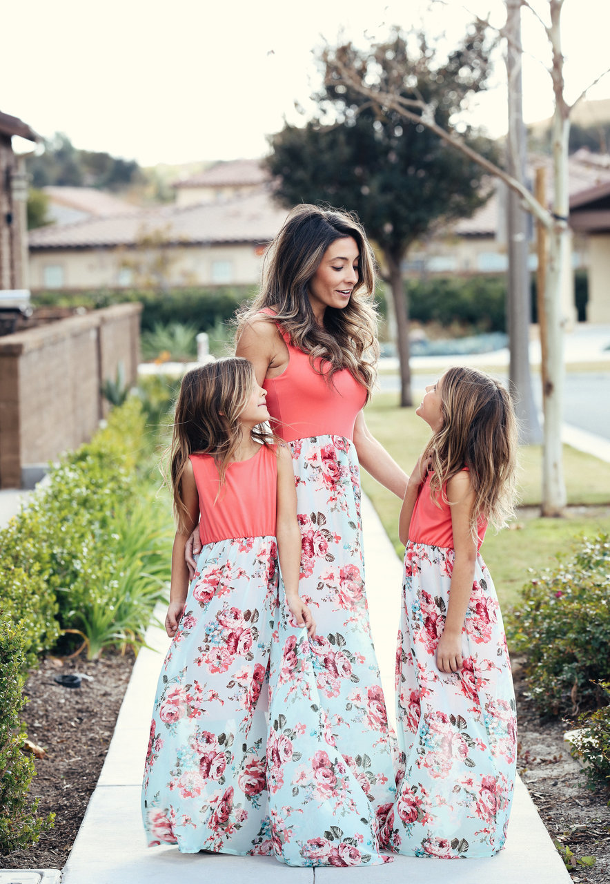 2018 fashion mom mother and daughter girl casual boho