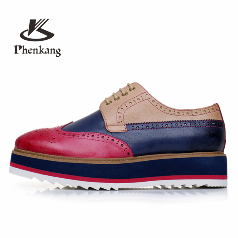 flats leather red discount