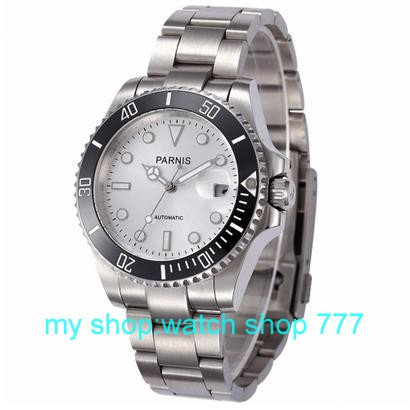 High quality PARNIS 40mm Asian automatic machinery movement men s watch Ceramic bezel Sapphire mirror 2016