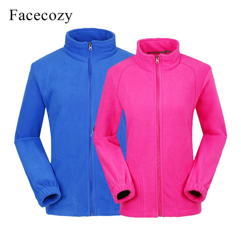 Facecozy Men Women Outdoor Fleece Jackets Sports Camping Warm Comfort Women Winter Jacket Couple Coat  for Camping Hiking Skiing(China)