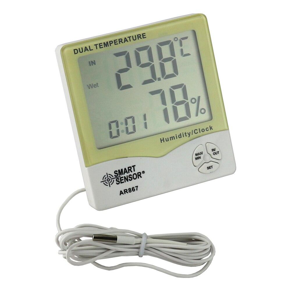LCD Cyfrowy higrometr Termometr Wilgotność Miernik temperatury - Przyrządy pomiarowe - Zdjęcie 2