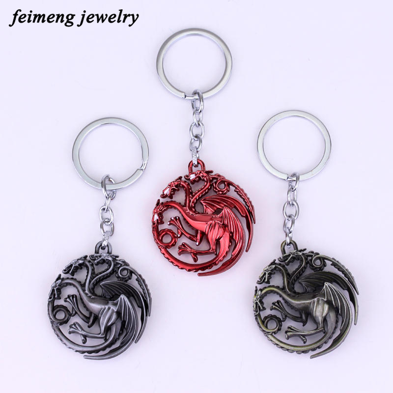Game of Thrones Family Crest Keychain For Men Trinket Portachiavi Car Keyring Key Chain Ring Chaveiro Jewelry Gift TV Jewelry