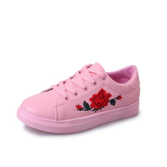 Embroidery flowers moccasins women white shoes female soft breathable casual shoes pu leather students lace up flat shoes woman in womens flats from embroidery flowers moccasins women white shoes female soft breathable casual shoes pu leather students lac