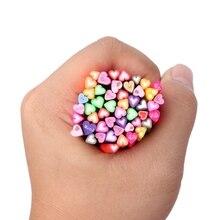 Дизайн ногтей полимерный стикер из глины 50 шт 3D перо шаблон Маникюр фимо-трости палочки стержень гель