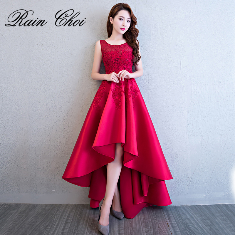 Prom     Dresses   2019 New A-Line High Low Floor Length Long Party Gowns Formal   Prom     Dress