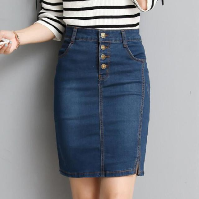 953c8cf841 Fashion Women Denim Skirt OL Pencil Denim Skirts Womens Blue Bodycon Skirts  High Quality Elagant Skirt-in Skirts from Women's Clothing & Accessories on  ...