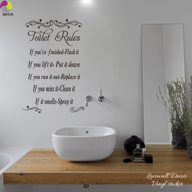 Online buy wholesale restroom posters from china restroom posters wholesalers - Model deco wc ...