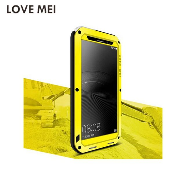 los angeles 5c454 e379f US $35.0  Original Love Mei Cover Mate8 Waterproof Shockproof Metal  Aluminum Case Capa For Huawei Mate 8 Three proofing with phone cases -in  Fitted ...