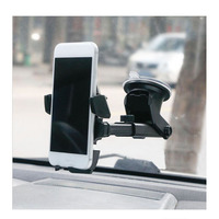 Carro titular do telefone móvel universal 360 graus flexível brisa ar condicionado tomada gps pendurado desktop suporte do telefone do carro