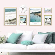 Coconut Palm Tree Beach Sea Wall Art Landscape Canvas Painting Nordic Posters And Prints Wall Picture For Living Room Decoration coconut palm tree beach wall art canvas painting nordic landscape posters and prints wall pictures for living room unframed