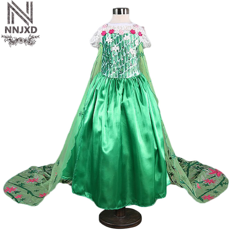 Fairy Princess Costume For Little Girl Trumpet Dress Flower Halloween Party Outfits Cosplay Children Clothing Long Gown Vestidos cosplay party cat fox long fur ears neko costume hair clip halloween orecchiette y103