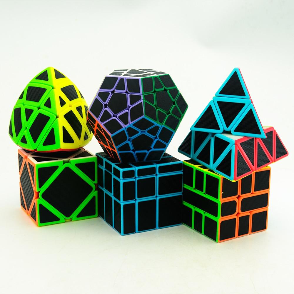 Lefun Magic Cube Gift Pack(6pcs/set,Including Mastermorphix,SQ-1,Pyraminx Cube,Skewb,3*3*3 Megaminx,Mirror Block)Toys For Kids
