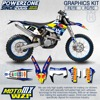 Custom Team Graphics & Backgrounds Decals 3M RB Stickers Kit For 2014 15 16 17 Husqvarna FE TE FC TC 125 250 300 350 450