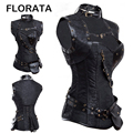 FLORATA Gothic Clothing Sexy Corset Steampunk Waist  Corsets And Bustiers Top Women