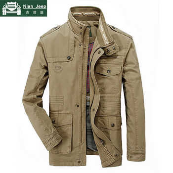 New Plus Size 7XL 8XL Autumn Military Jacket Men Cotton Brand Outwear Multi-pocket Mens Jackets Long Coat Male Chaqueta Hombre - DISCOUNT ITEM  53% OFF All Category