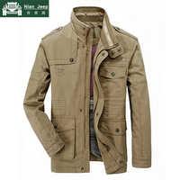 Nueva talla grande 7XL 8XL otoño chaqueta militar hombres algodón marca Outwear Multi-Bolsillo hombres chaquetas abrigo largo hombre chaqueta Hombre