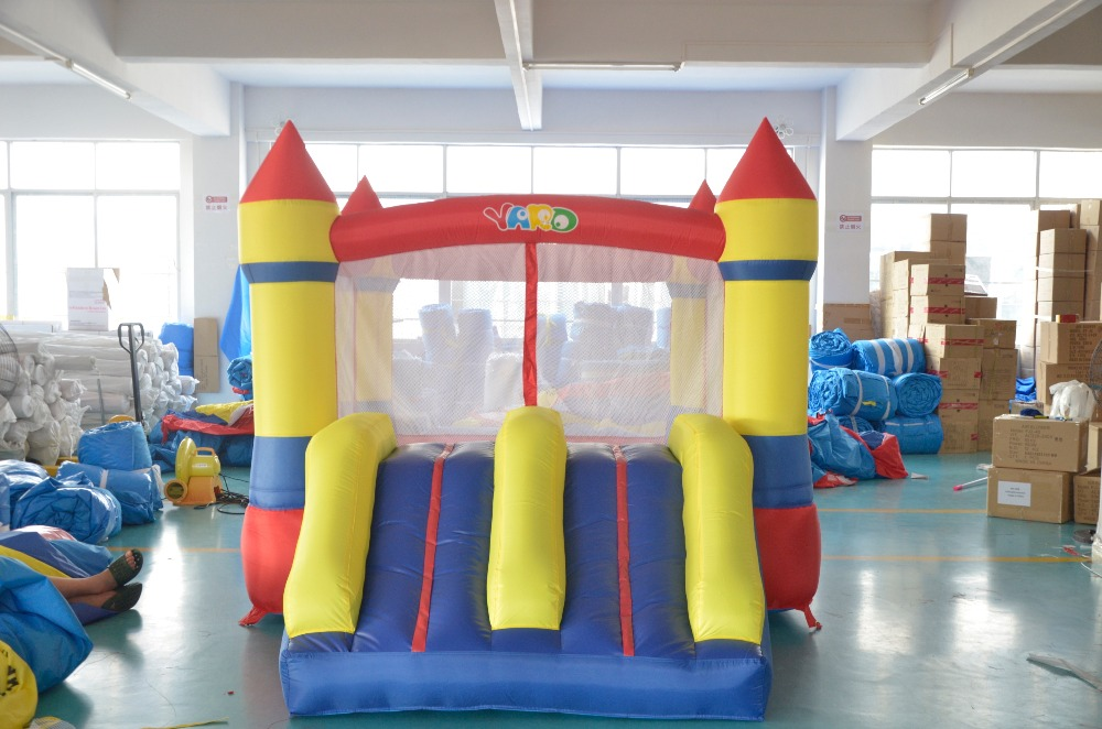 все цены на  YARD Pula Pula Inflatable Trampolines For kids Dual Slide Bounce House Inflatable Bouncer Juego Bouncy Castle  онлайн