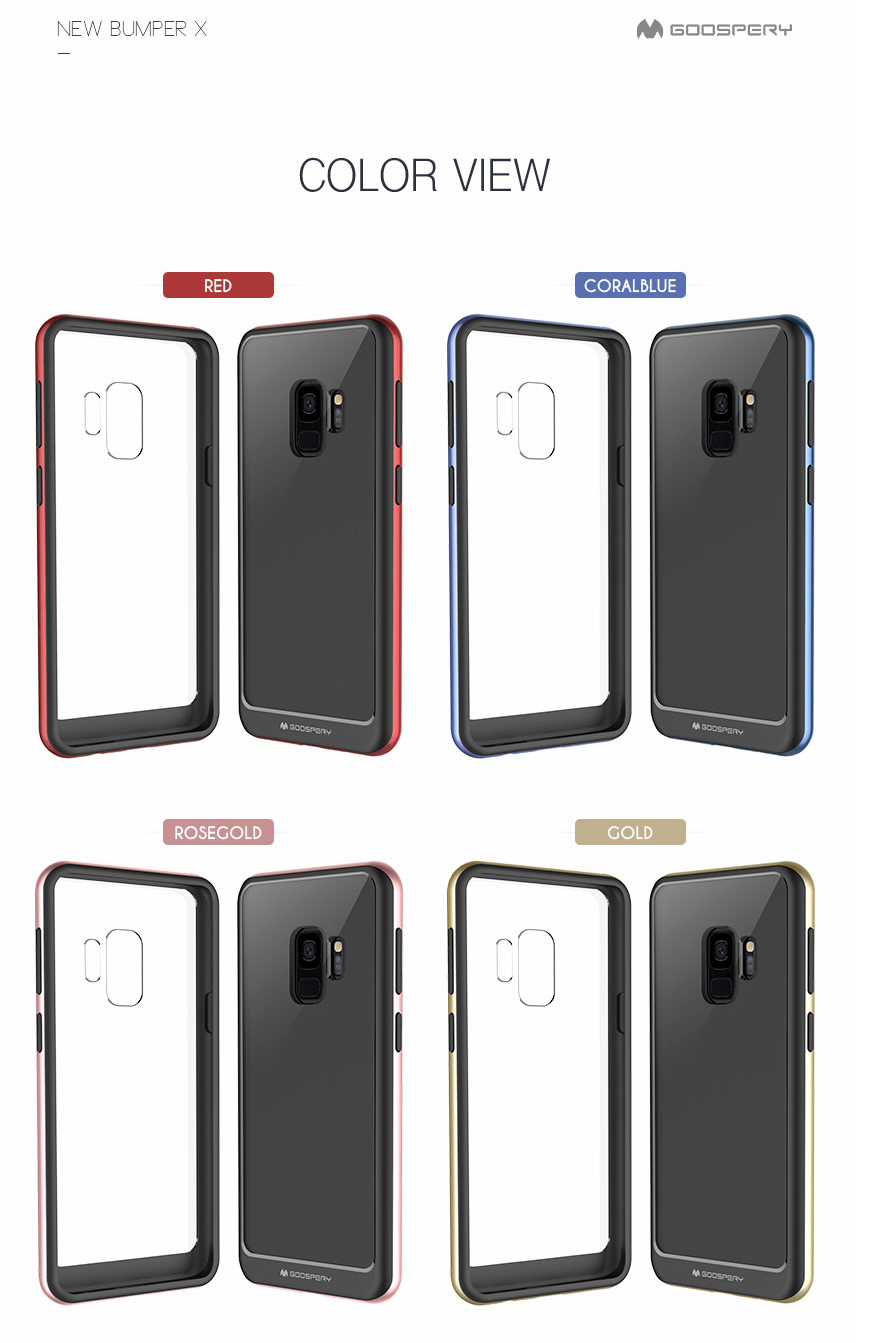 Mercury Goospery Bumper X Cover Case For Samsung Galaxy S8 S9 Plus Iphone 7 Sky Slide Gold New Eng