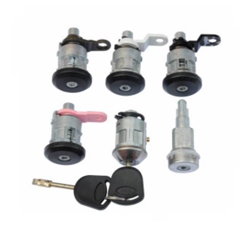 6pcs /set Complete Lock Kit For Ford Transit Automobile Anti-theft Auto Lock Door Lock Set