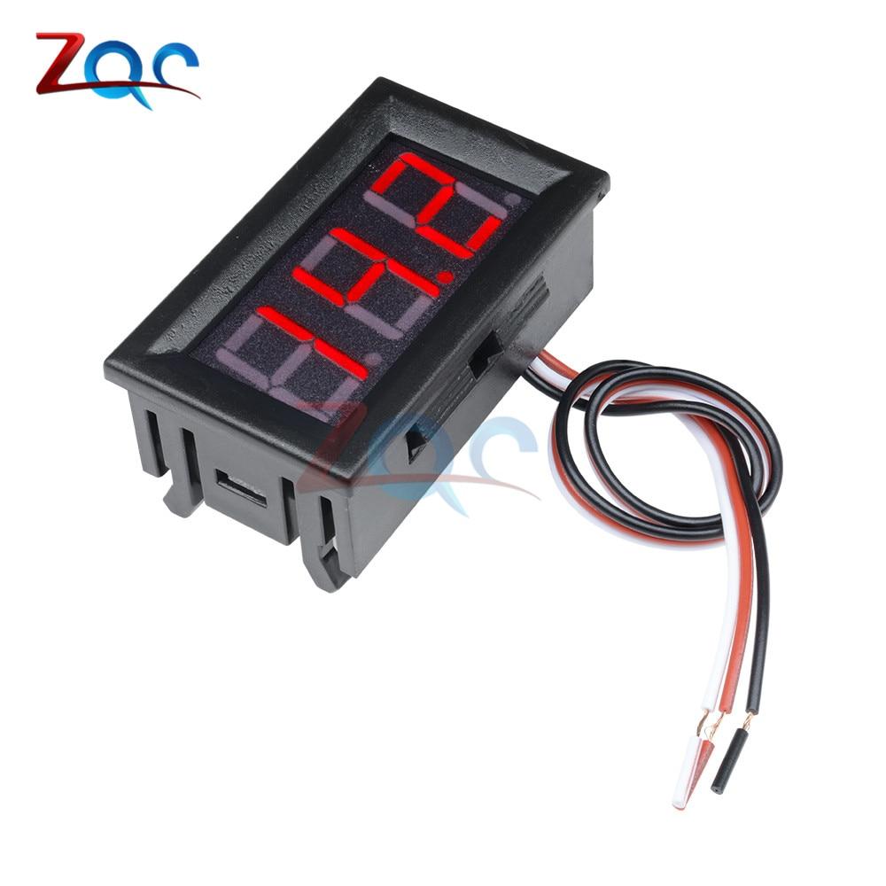 HTB1Hki9bvWG3KVjSZPcq6zkbXXaQ 0.56 inch Mini Digital Voltmeter Ammeter DC 100V 10A Panel Amp Volt Voltage Current Meter Tester Blue Red Dual LED Display