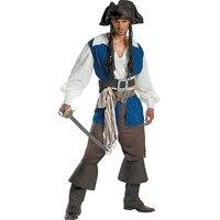 M-XL Eksport Uniform Człowiek Piraci z karaibów Pirat Jack Cosplay Kostiumy Halloween Gry Mężczyzna Odzież Disfraces H151233