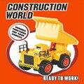 Rc camión dumper coche de control remoto de 4 canales vehículo toys regalo de navidad para niños de los niños de simulación de ingeniería 6855sw