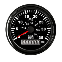 85 mm Marine Car Speedometer Gauge 35 MPH 60 Km/h GPS Speed Meter with Backlight Fit Motor Car Boat Yacht for BMW E90 Passat B6(China)