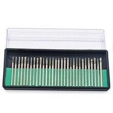 30pcs 2.35/3.0mm Diamond Burs Rotary Wood Stone Drilling Tools For Dremel Drill Bit Power Tool Dental Polishing Burs