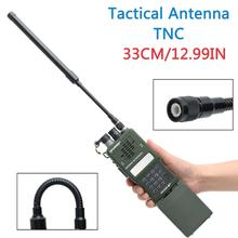 ABBREE TNC Connector VHF UHF Dual Band Foldable Gooseneck Tactical Antenna For Kenwood Harris AN/PRC 152 148 Walkie Talkie Radio