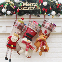 3 Pieces 23 5inch Large Embroidered Christmas Stockings Gift Bag For Xmas Tree Home Decoration