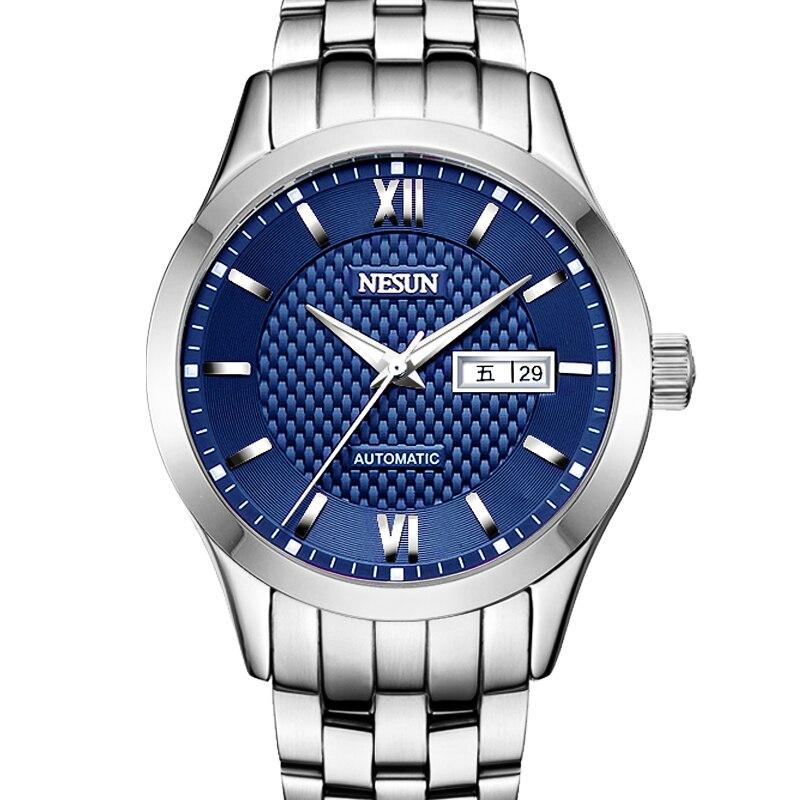 где купить New Nesun Men Watches Luxury Brand Japan MIYOTA Automatic Mechanical Movement Wristwatches Sapphire Waterproof Watch Men N9203-3 по лучшей цене