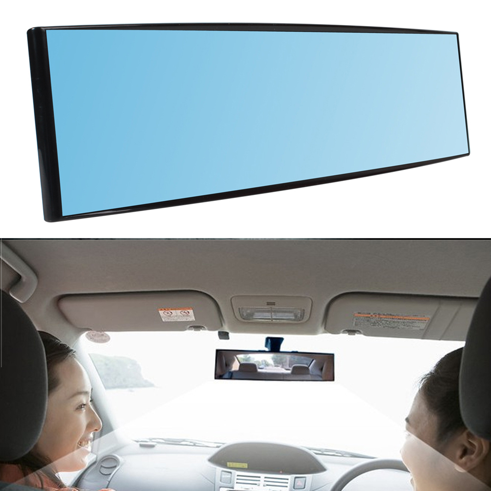 new 300mm wide vision car proof mirror outlook interior car wide angle rearview mirror surface. Black Bedroom Furniture Sets. Home Design Ideas