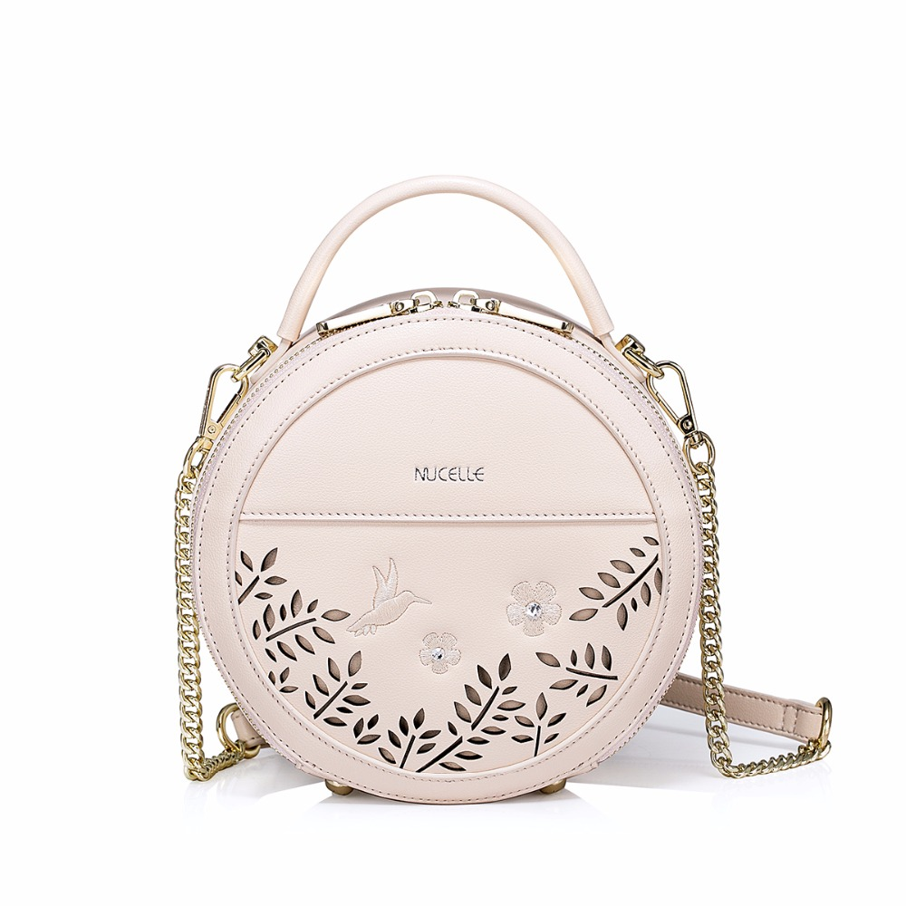 eb30e36d9885 2017 Spring New NUCELLE Brand Women s Designer Handbags Fashion Hollow PU  Leather Girls Shoulder Mini Small Feminine Bags -in Shoulder Bags from  Luggage ...