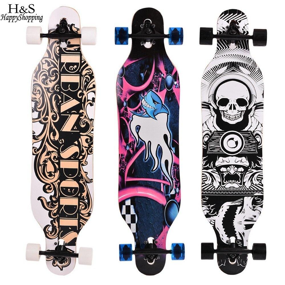 41 Inch Skate Board Maple Longboard Skateboard Adult Children 4 wheels Speed Skateboard Outdoor Sports Skateboard 31 adult kids mini complete longboard skateboard maple wood deck skate board mini street dancing longboard