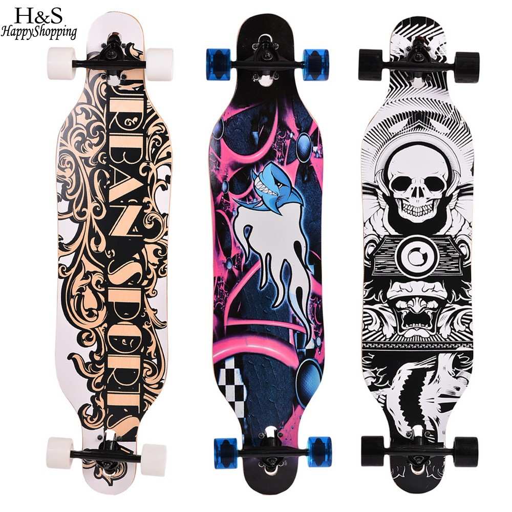41 inch skate board Maple Longboard Skateboard Adult Children 4 wheels Speed skateboard Outdoor sports skateboard wheel 4 wheel electric skateboard single driver motor small fish plate wireless remote control longboard waveboard 15km h 120kg