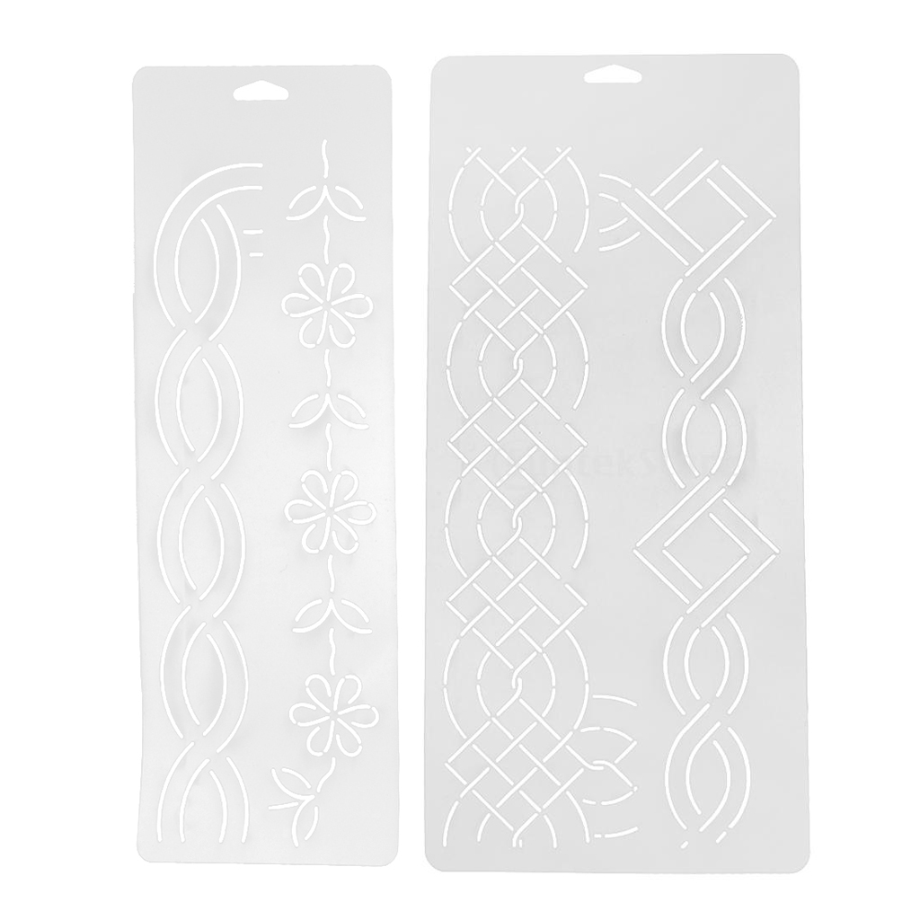 2 pieces plastic quilting stencil template for craft stitch sewing diy art craft