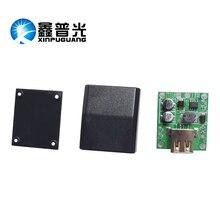 Xinpuguang 5pcs USB Voltage Regulator 5V 2A Black Portable Pressure Box Panel Used in Solar Folding Bag Solar Charger Phone