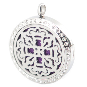 Crystal Cross Aromatherapy Essential Oil Surgical Stainless Steel Perfume Diffuser Locket Necklace Pendant фото