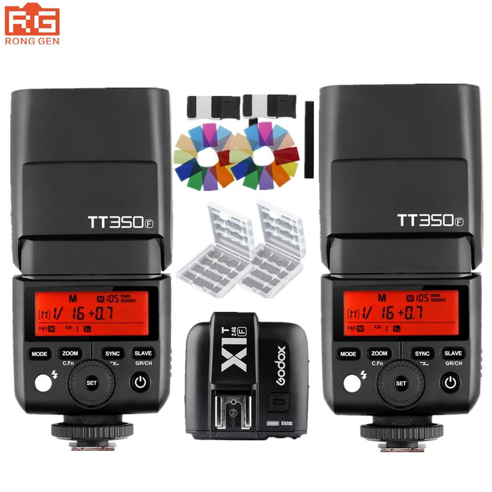 GODOX Mini TT350F TT350 Flash Speedlite TTL HSS 2.4GHz 1/8000 s GN36 Flash Pocket lights + X1TF Trigger for Fujifilm CamerasGODOX Mini TT350F TT350 Flash Speedlite TTL HSS 2.4GHz 1/8000 s GN36 Flash Pocket lights + X1TF Trigger for Fujifilm Cameras
