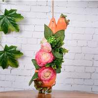 5 Flower Large Camellia Artificial Flower Plant Bonsai Suit Wall Decoration Garden Home Decoration Potted Wall