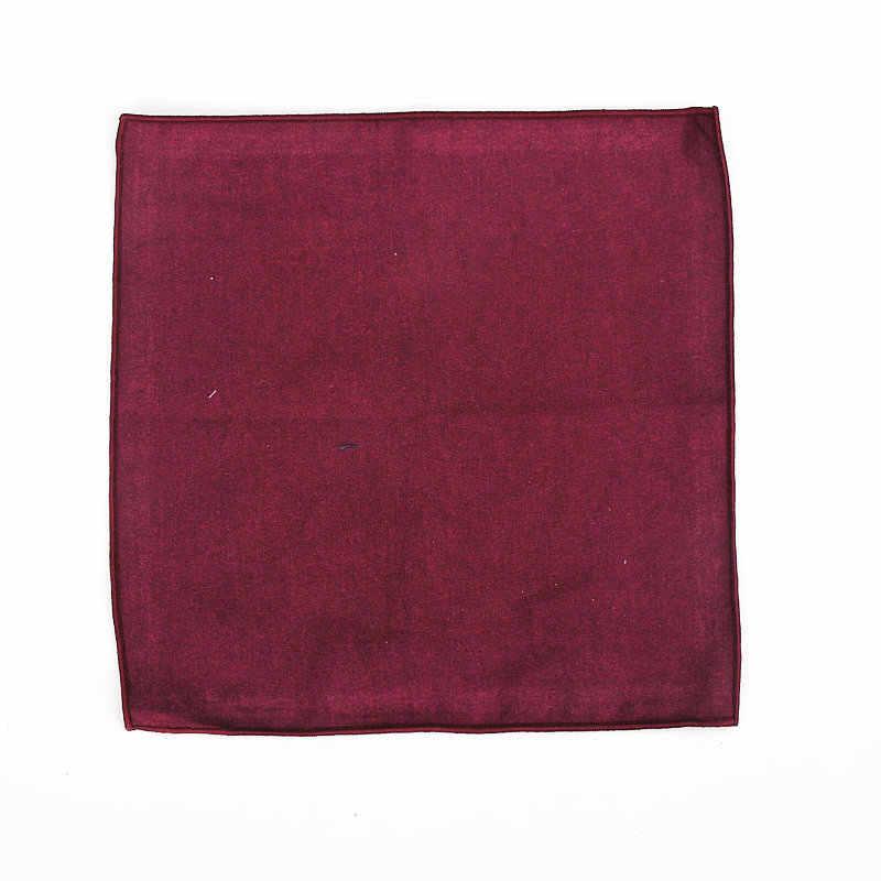 2019 真新しい男性の綿ポケットスクエアソリッドカラーブラックピンクブルーハンカチ胸タオルのウェディングドレススーツパーティースーツ Hankies 25*25 センチメートル