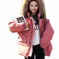 Plus Size Winter Jacket Women Ukraine 2019 Casual Cotton Padded Coat Thick Bread Clothes Big Hair Collar Down Cotton Parka L019