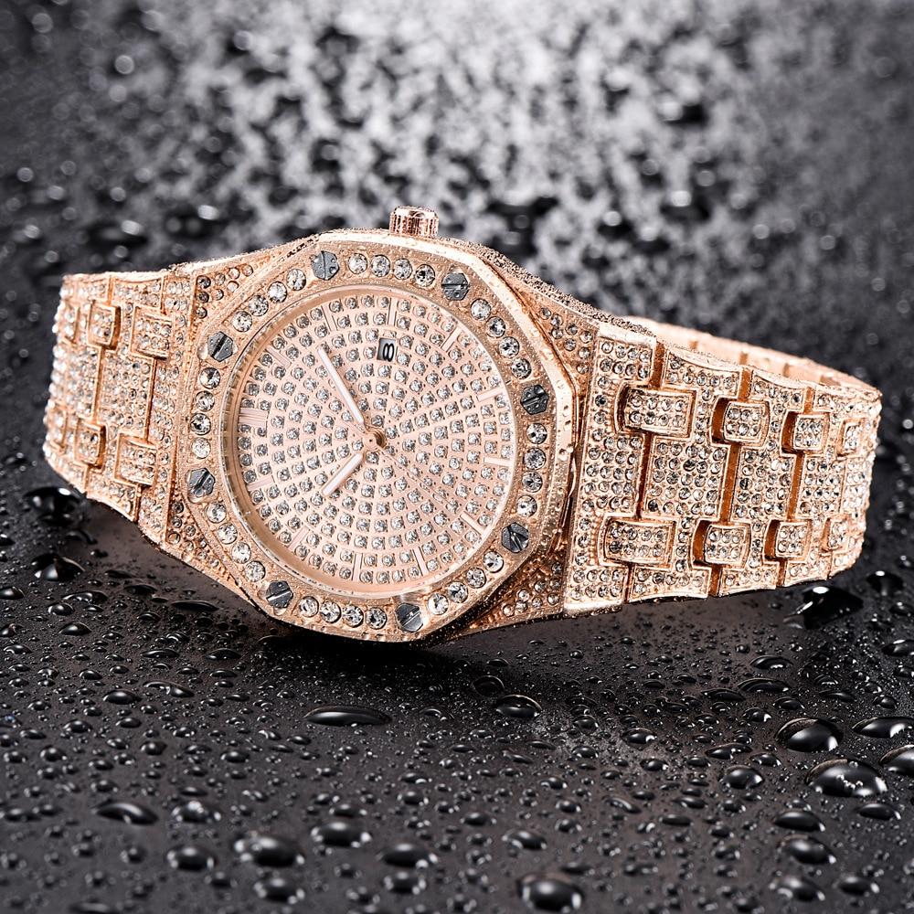 ap design hot fashion mens watches ice out bling diamond quartz watch for men 2019 drop shipping (7)