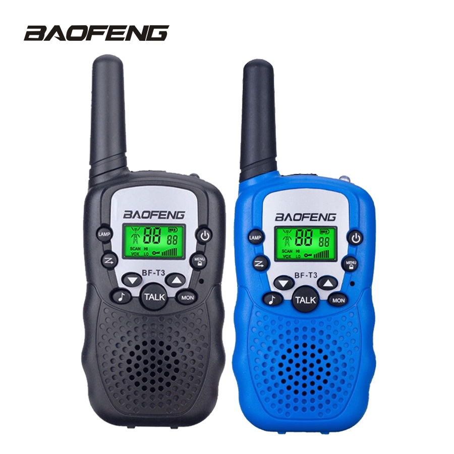 Buy 2PCS BaoFeng Walkie Talkie Children Mini Kids Radio BF-T3 2W UHF462-467(MHz) two way radio Portable Transceiver radio Kids gift for only 25.6 USD
