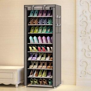 Image 2 - Actionclub 10 camada simples oxford sapatos armário de armazenamento montagem diy sapato prateleira dustproof moistureproof grande capacidade sapato rack